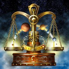 Libra Digital Art by Ciro Marchetti