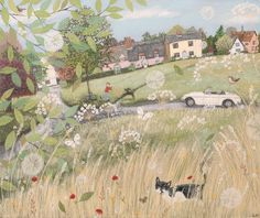 Artist Lucy Grossmith. Small pleasures of rural life