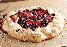 Remember the blueberry crostata i posted today?  Well here is a Tuscan Crostata with Mixed Berries Recipe.  Im having this for dinner , will update how it turns out!!~
