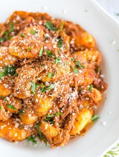 Slow Cooker Gnocchi in a Creamy Pork Sauce - An easy dinner perfect for a crowd! | browneyedbaker.com