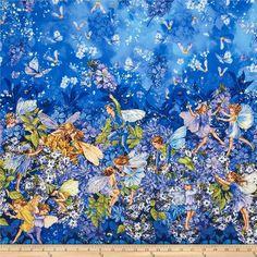 Designerstoffe USA - Michael Miller - Petal Flower Fairies - Blumenfeen - ein Designerstück von LittleFriends bei DaWanda