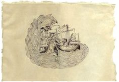 Circe and Ulysses, 2009 Pen on parer 40 x 29 cm