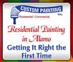 When your house needs to be painted, it can be a lot of hassle, so you will want to get it right the first time. Hiring a company for residential painting in Alamo is likely to be a good way to get it done right.