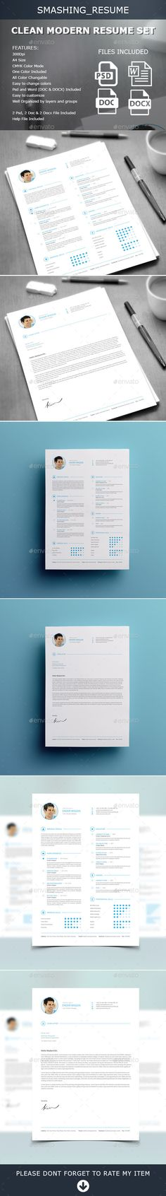 Resume Free cover letter, Resume cv and Professional resume template - modern resumes