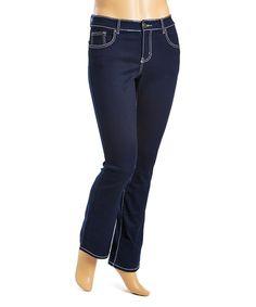 Light Denim Five-Pocket Straight Leg Jeans - Plus