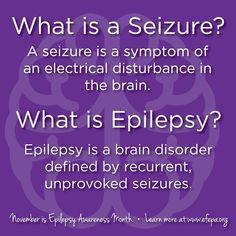 Epilepsy Facts, Epilepsy Quotes, Epilepsy Awareness Month, Epilepsy Seizure, Seizure Disorder, Neurological Disorder, Seizures, Disorders, Brain Activities