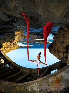 Reminds me of Dali.    Aerialist Point of View by The Smoking Camera, via Flickr