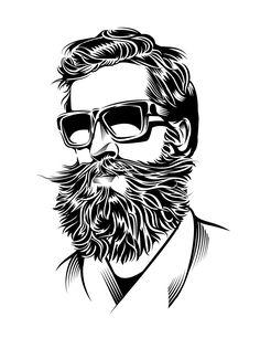 Yann Legendre - The Wall Street Journal > Illustration Series for an article: The Bearded Men