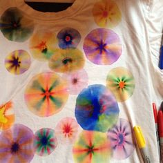 Sharpie pen tie dye! Really fun!