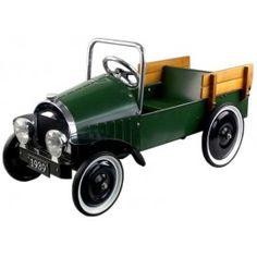 Coche de pedales verde pick-up