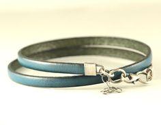 Leather bracelet mens bracelet men's jewelry by SylviaArtGallery