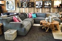 Hoekbank Le Noir kiss 66 graphite stof uit voorraad aanbieding Easy Sofa
