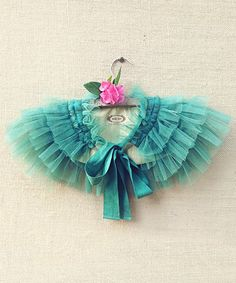 Another great find on #zulily! Marine Green Gia Ruffle Cape - Girls by Joyfolie #zulilyfinds
