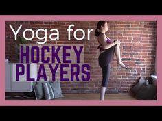 Yoga for Hockey Players - 30 Minute Yoga Class Women's Hockey, Hockey Girls, Hockey Players, Youth Hockey, Funny Hockey, Hockey Stuff, Hockey Training, Yoga Teacher Training, Health Education