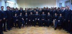 Poza de grup cu pompierii profesionisti de la sediul I.S.U. Timis - 2016
