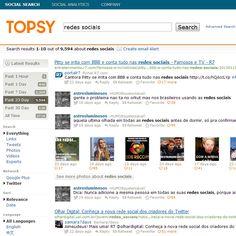 TOPSPY é um sistema de busca de imagens, links, vídeos nas principais mídias sociais.    Essencial para quem deseja monitorar um tempo ou palavra chave.    Acesse: http://topsy.com/