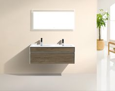 48 double sink wall mount bathroom vanity w acrylic counter top available color