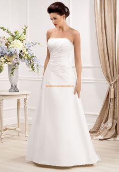 Schlichte Bodenlange Hochzeitskleider aus Organza
