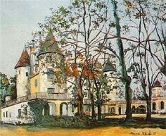 utrillo paintings | The castle - Maurice Utrillo - WikiPaintings.org