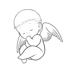 Baby angel clipart black and white - ClipartFox Clipart Kid, Angel Clipart, Baby Engel Tattoo, Drawing Sketches, Art Drawings, Baby Angel Wings, Cloud Tattoo, Angel Drawing, Angel Images