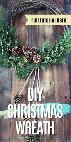 If you're looking for diy Christmas decor ideas and inspiration then you're in the right place. Check out this article on how to make a DIY Christmas wreath that is super simple, quick and will look fantastic on the wall or your front door! Click through to get the full details.
