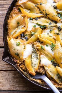 This Pumpkin and Pesto Cheese Stuffed Shells is for nights when you& craving Italian, but you& also craving fall flavors Jumbo pasta shells stuffed with a basil pesto and ricotta cheese mixture Then baked in a spicy pumpkin vodka sauce tha Cheese Stuffed Shells, Stuffed Shells Recipe, Healthy Stuffed Shells, Pumpkin Recipes, Fall Recipes, Cooking Recipes, Healthy Recipes, Beef Recipes, Recipies