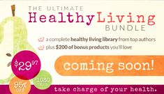 I've got some BIG news for you today!!! Click through to learn how to get the upcoming Ultimate Healthy Living Bundle -- $1,000 worth of resources -- for FREE!