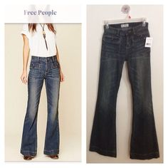 """Free people flare jeans  33"""" inseam ~ 70s vibe bell bottoms Free People Jeans"""