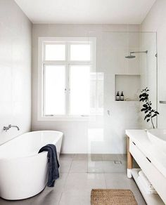 amazing modern farmhouse small master bathroom ideas - # check more at b ., amazing modern farmhouse small master bathroom ideas - # check more at bade. Scandinavian Bathroom Design Ideas, Minimalist Bathroom Design, Modern Bathroom Design, Bathroom Interior Design, Bathroom Designs, Bathroom Design Layout, Small Bathroom Layout, Interior Livingroom, Contemporary Bathrooms