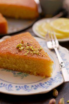 Super easy and quick recipe for delicious lemon semolina cake also known as Basbousa. Fully vegan, dairy free and eggless. Semolina Recipe, Semolina Cake, Cassava Cake, Baklava Recipe, Delicious Cake Recipes, Sweet Recipes, Dessert Recipes, Lebanese Desserts, Vegan Desserts
