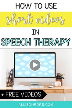 Using videos in speech therapy is an engaging way to target many important skills, including inferences, emotions, cause/effect, retelling, summarizing, predictions, sequencing, and more for all ages! #slpeeps #sped #socialskills