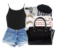 """""""."""" by ray-royals ❤ liked on Polyvore featuring Miss Selfridge, Converse and MICHAEL Michael Kors"""