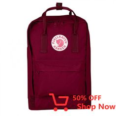 The classic Kanken becomes your computer bag. The padded pocket protects the computer from jostling. Zipper opens the entire main compartment. Padded shoulder straps and a carrying handle on top.