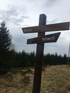 Weg zur Wolfswarte im Harz