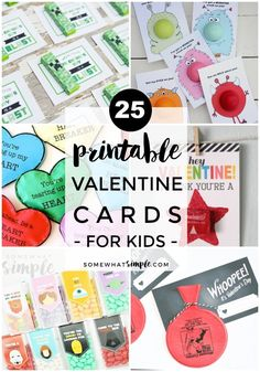 25 Printable Valentines Day Cards | Each year we update our list of favorite Printable Valentine Cards with the newest and cutest ideas on the web! Here is our list of top 25 - take a look!