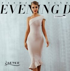 Adyce 2019 New Summer Women Bandage Dress Vestidos One Shoulder Sleeveless  Ruffles Nightclub Dress Celebrity Evening Party Dress  make  fashion   beauty ... 4ad98a53b271