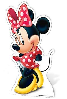 Minnie Mouse Star Mini Cut Out The Minnie Mouse (Star Mini cutout) would be great for a childs birthday party. Minnie Mouse is Mickey Mouses one true love and he is constantly chasing her around trying to get her attention.  Made from strengthened cardboard the cutout is very durable and has an attached easel on the back for support. Height 89cm.