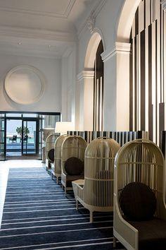 View the full picture gallery of Hotel Des Cures Marines Bar Interior Design, Restaurant Interior Design, Cafe Interior, Luxury Chairs, Luxury Furniture, Hotel Corridor, Parisian Apartment, Hotel Lobby, Hotel Interiors