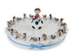 Torta bomboniera con 22 fette soggetto calciatori portachiavi #tortabomboniera #calciatori #portachiavi