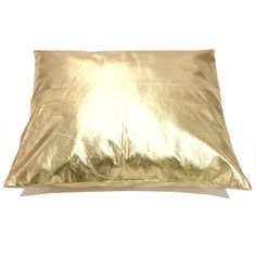 Gold Metallic Faux Leather Throw Pillow by NECRCustomPrint on Etsy