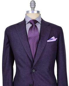 New Wedding Suits Men Purple Pocket Squares Ideas Purple Suits, Purple Blazers, Der Gentleman, Gentleman Style, Sharp Dressed Man, Well Dressed Men, Suit Fashion, Mens Fashion, Fashion Clothes