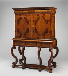 Cabinet on stand  Date: ca. 1700  Culture: British  159.4 x 116.2 x 53.3 cm