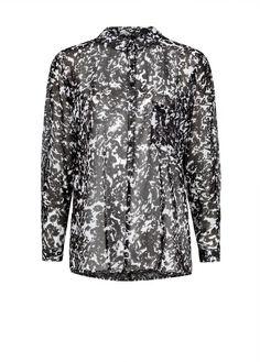 Bicolor print chiffon blouse