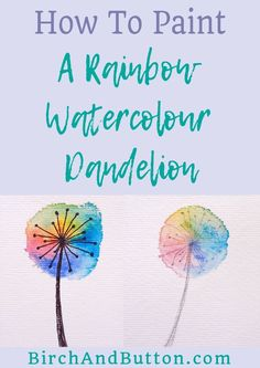 If you want to learn how to create a simple but effective rainbow watercolour dandelion artwork to hang on your wall or put in your art journal, this is the post for you! Click through for the full step-by-step tutorial.