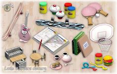 Sims 3 kids, room, decor, objects, clutter