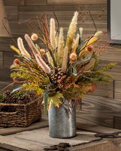 Good Screen 32 Beautiful Fall Flower Arrangement Design Ideas For Living Room Decor Thoughts Among the absolute most wonderful and elegant types of flowers, we cautiously picked the correspondi Home Flower Arrangements, Flower Arrangement Designs, Fall Arrangements, Flower Vases, Planters Flowers, Artificial Flower Arrangements, Fall Planters, Types Of Flowers, Fake Flowers