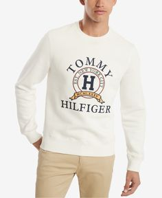 Tommy Hilfiger Men Big & Tall Back Bay Logo Sweatshirt - Products - Men Polo Shirt Outfits, Polo T Shirts, Kids Shirts, Sweatshirts Online, Mens Sweatshirts, Tommy Hilfiger Sweatshirt, Tommy Shirt, Mens Back, Mens Big And Tall