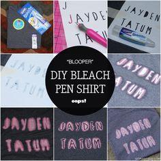 DIY Personalized Bleach Pen Shirt via Sophistishe.com