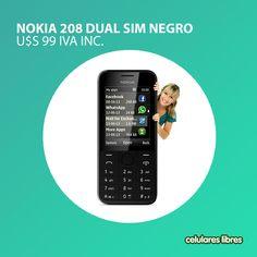 Si querés un celular sencillo, con dual sim y buenas prestaciones, entonces el Nokia 208 Dual Sim es ideal para vos. Encontralo en: www.celulares.com.uy