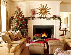 A living room that mixes coziness with spaciousness - Traditional Home®